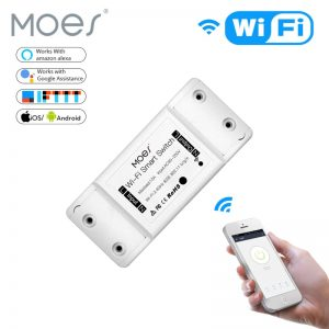WiFi Smart Light Switch Module Universal Breaker Timer DIY Smart Life APP Wireless Remote Control Works with Alexa Google Home
