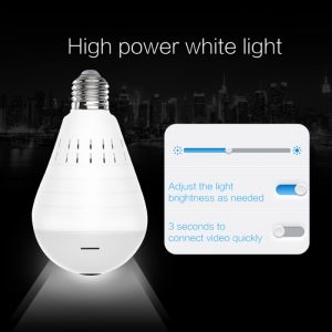 Wifi Panorama Camera Wireless Security Panoramic Bulb Video Camera HD Night Vision Surveillance Fisheye Camera Smart Home