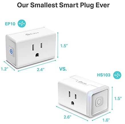 Kasa Smart Plug Mini 15A, Smart Home Wi-Fi Outlet Works with Alexa, Google Home & IFTTT, No Hub Required, UL Certified, 2.4G WiFi Only, 4-Pack Smart Home - Office 3