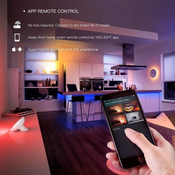 Yeelight RGB LED 2M Smart Light Strip Smart Home for Mi Home APP WiFi Works with Alexa Google Home Assistant 16 Million Colorful 7