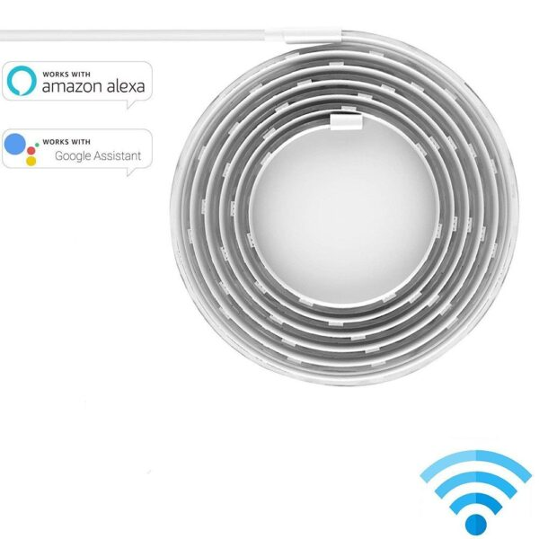 Yeelight RGB LED 2M Smart Light Strip Smart Home for Mi Home APP WiFi Works with Alexa Google Home Assistant 16 Million Colorful 3