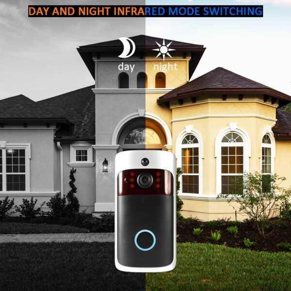 Smart Wireless WiFi Security DoorBell Visual Recording Consumption Remote Home Monitoring Night Vision Smart Video Door Phone 6