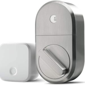 August Smart Lock + Connect Wi-Fi Bridge, Satin Nickel, Works with Alexa, Keyless Home Entry from Anywhere – – Amazon.com Smart Home - Office smart lock
