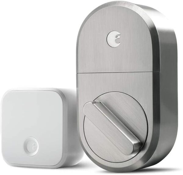 August Smart Lock + Connect Wi-Fi Bridge, Satin Nickel, Works with Alexa, Keyless Home Entry from Anywhere – – Amazon.com Smart Home - Office smart lock 2